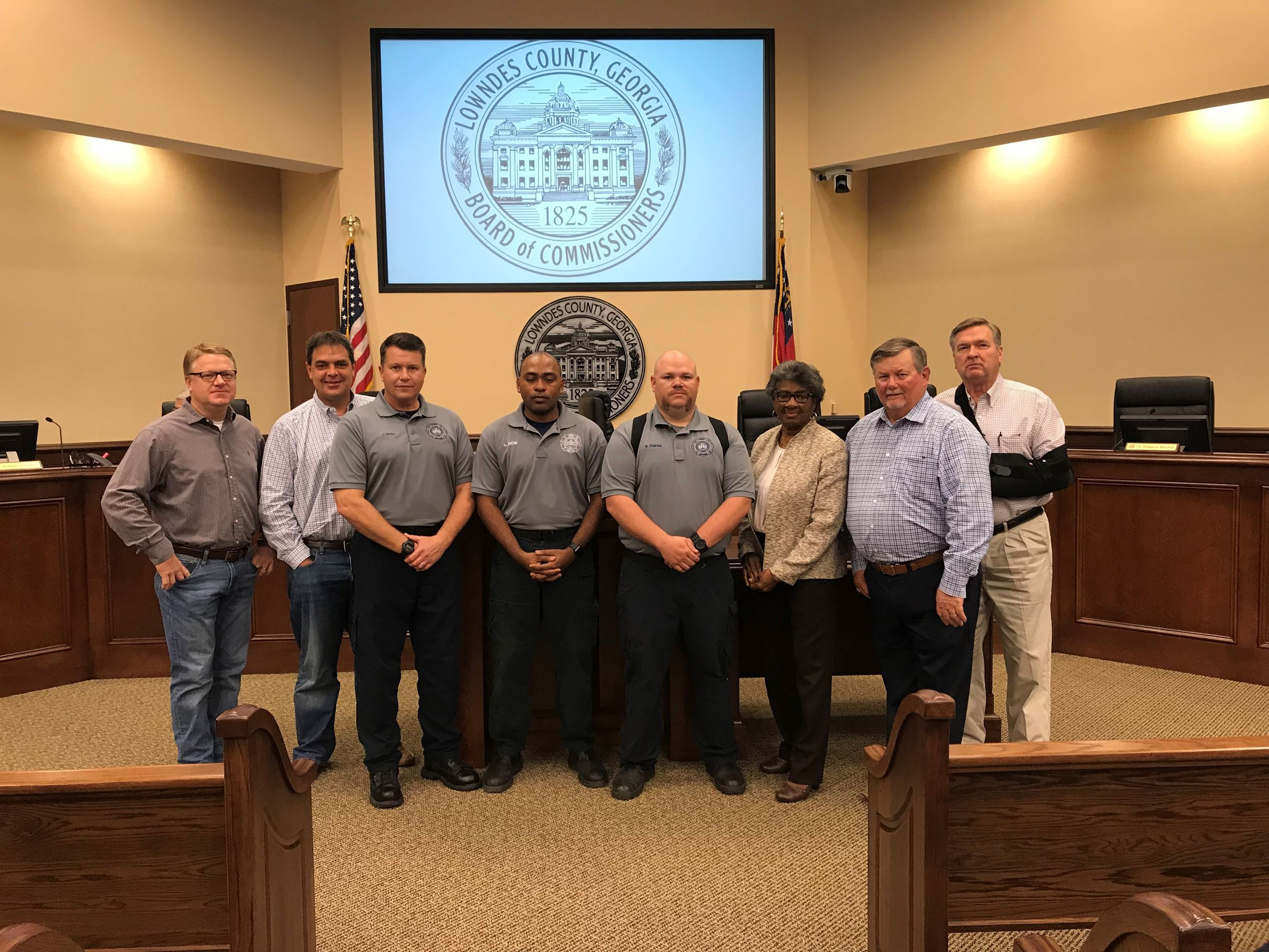 Commissioners recognize firefighters