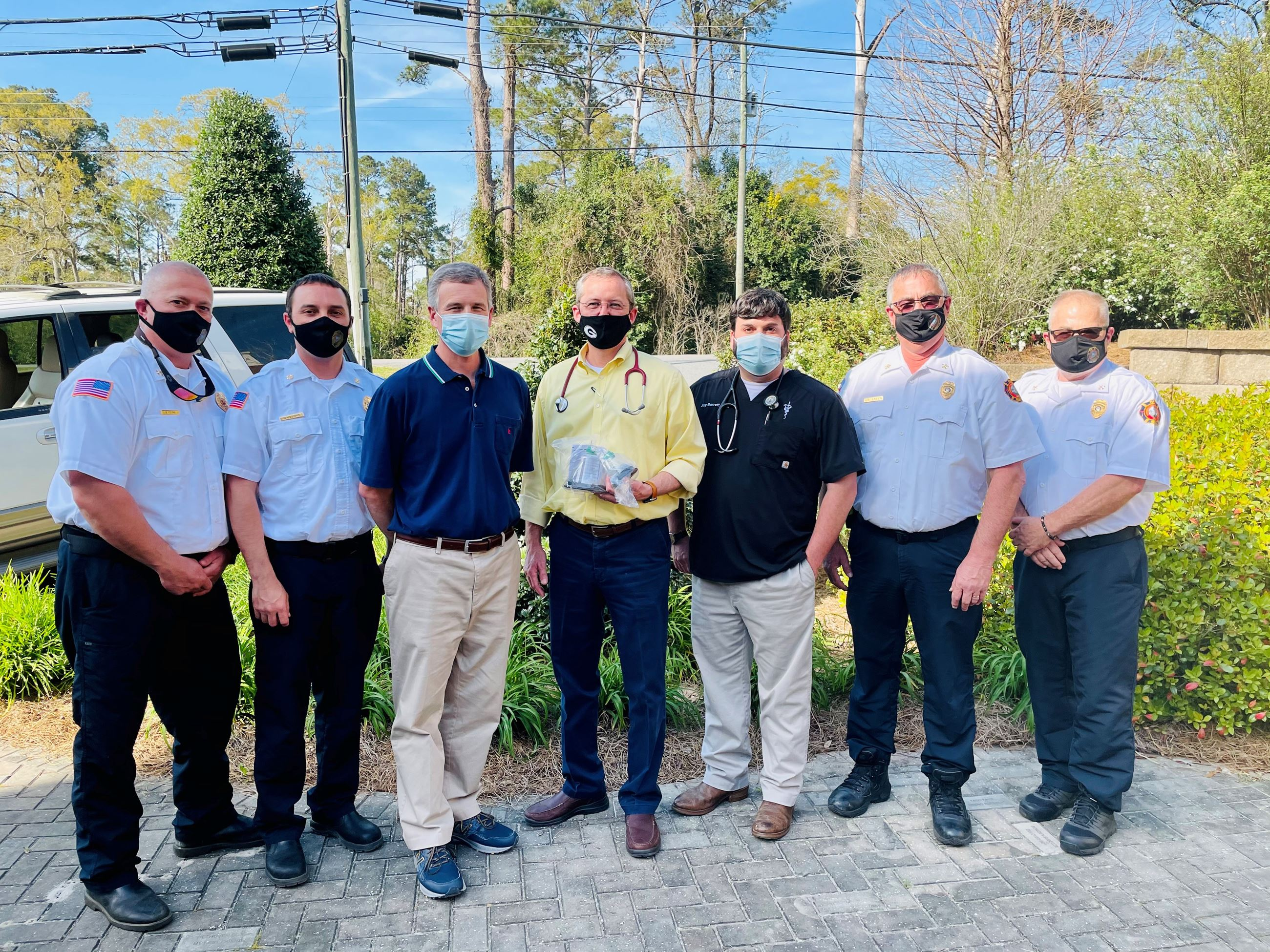 Masks Donated to Fire Rescue